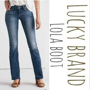 Lucky 🍀 Brand Lola boot cut denim blue jeans